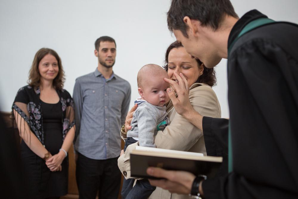 keresztelő, család, baba, Pécs