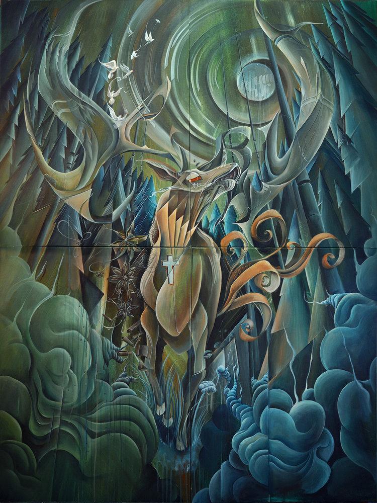 I´m your Spirit  Acrylic on canvas 120 x 160 cm