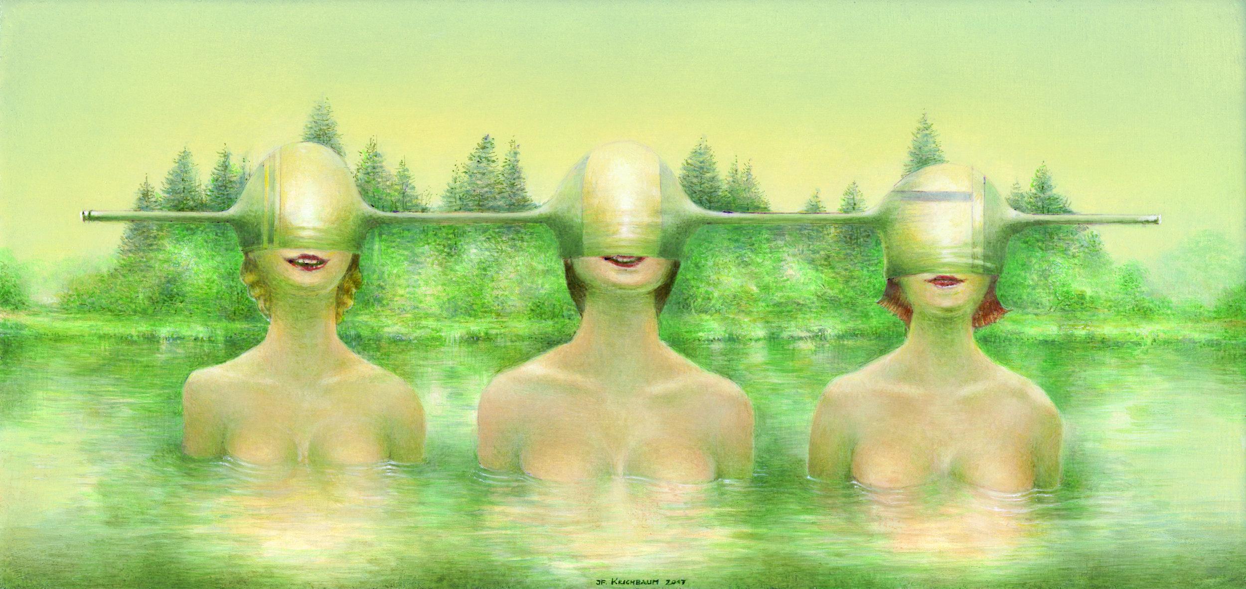 Three Guard Sisters By Josef Florian Krichbaum