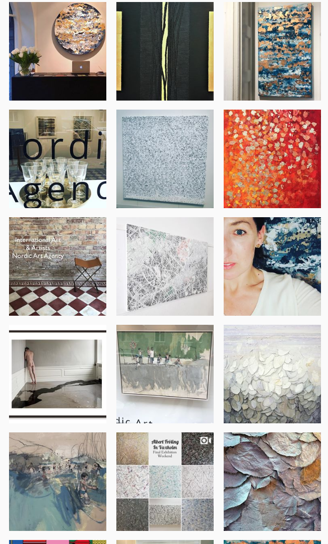 A snapshot of the @nordicartagency Instagram feed