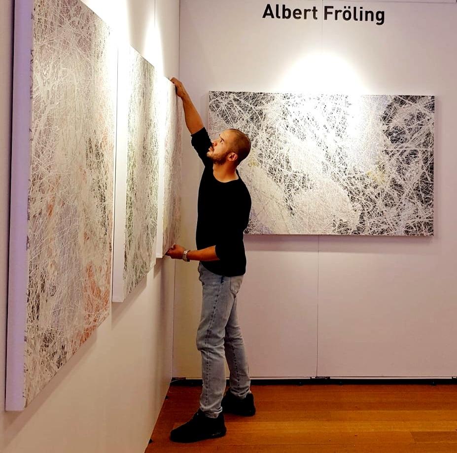 Albert Fröling exhibiting at Bozar, Palais des beaux Art, Brussels 2018