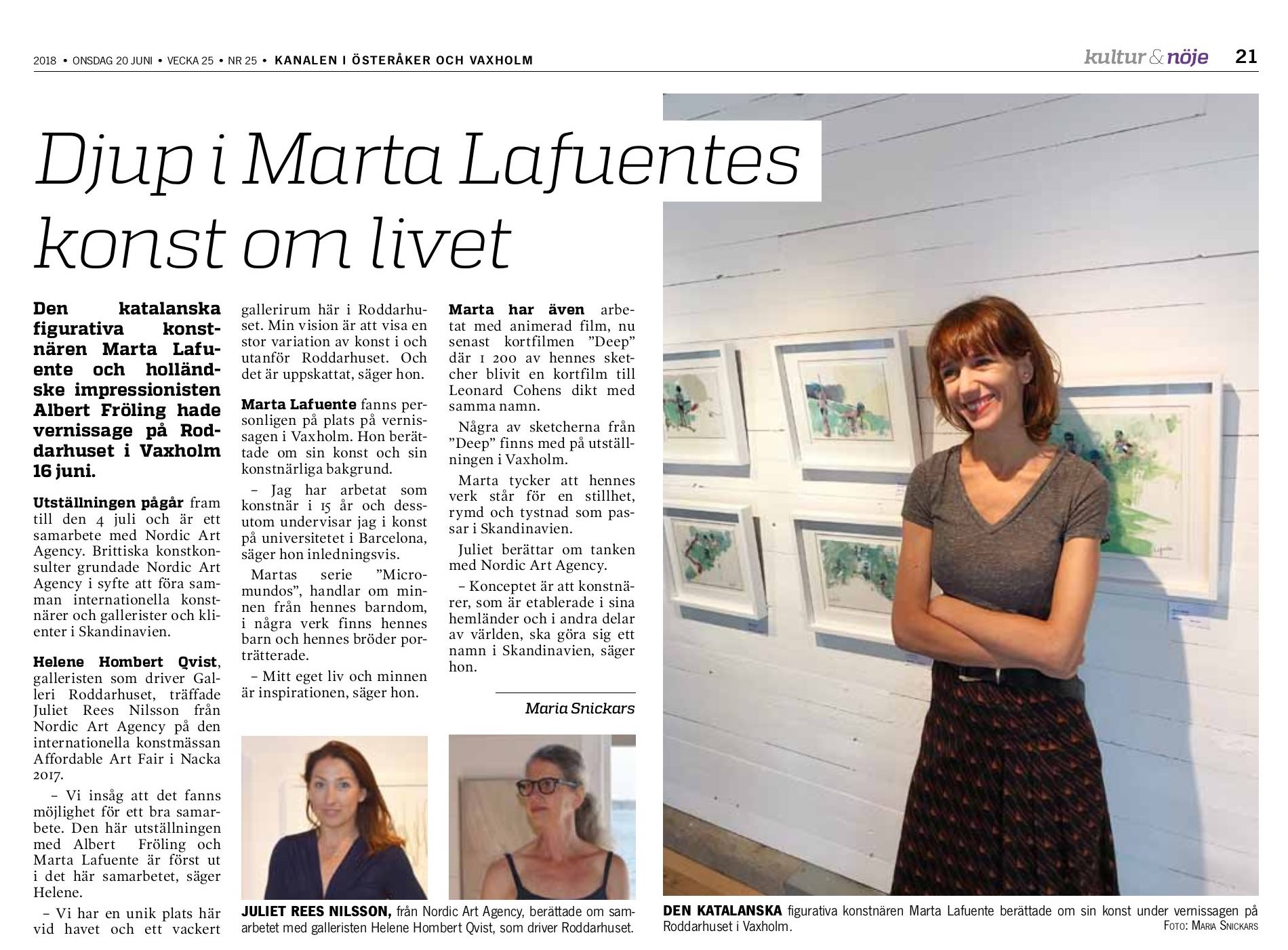 Marta Lafuente - Stockholm, Summer Exhibition 2018