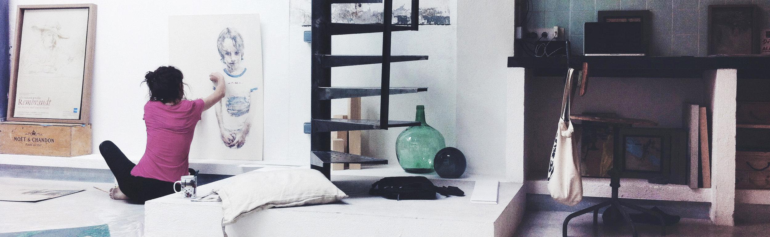 Marta Lafuente in her Barcelona studio
