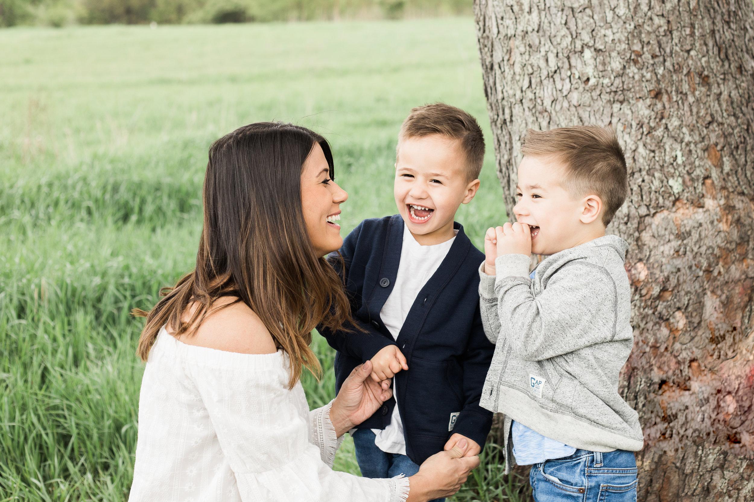Twin boys and their mom, Kalamazoo, Michigan