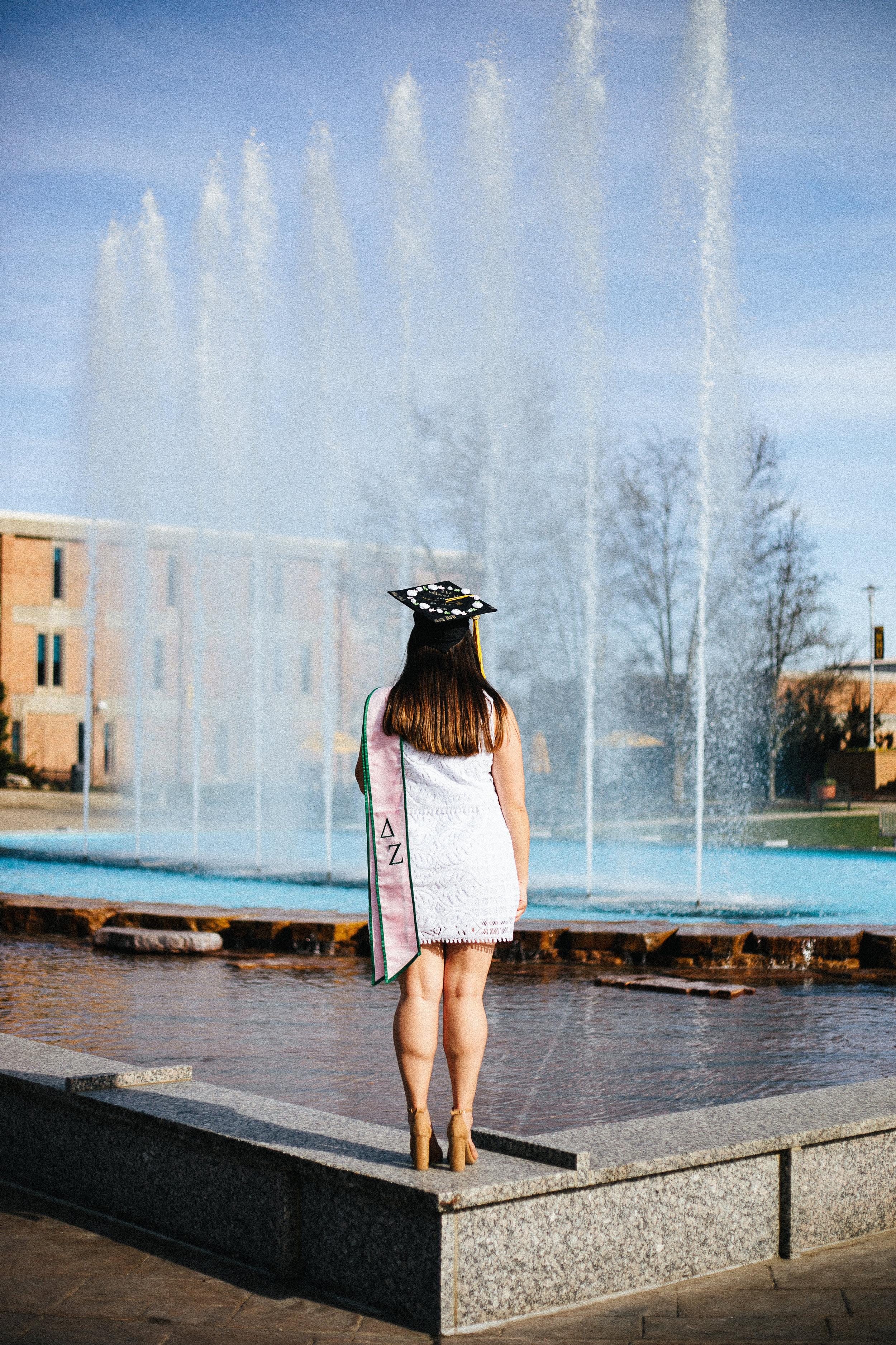 Western Michigan University Miller Fountain Delta Zeta