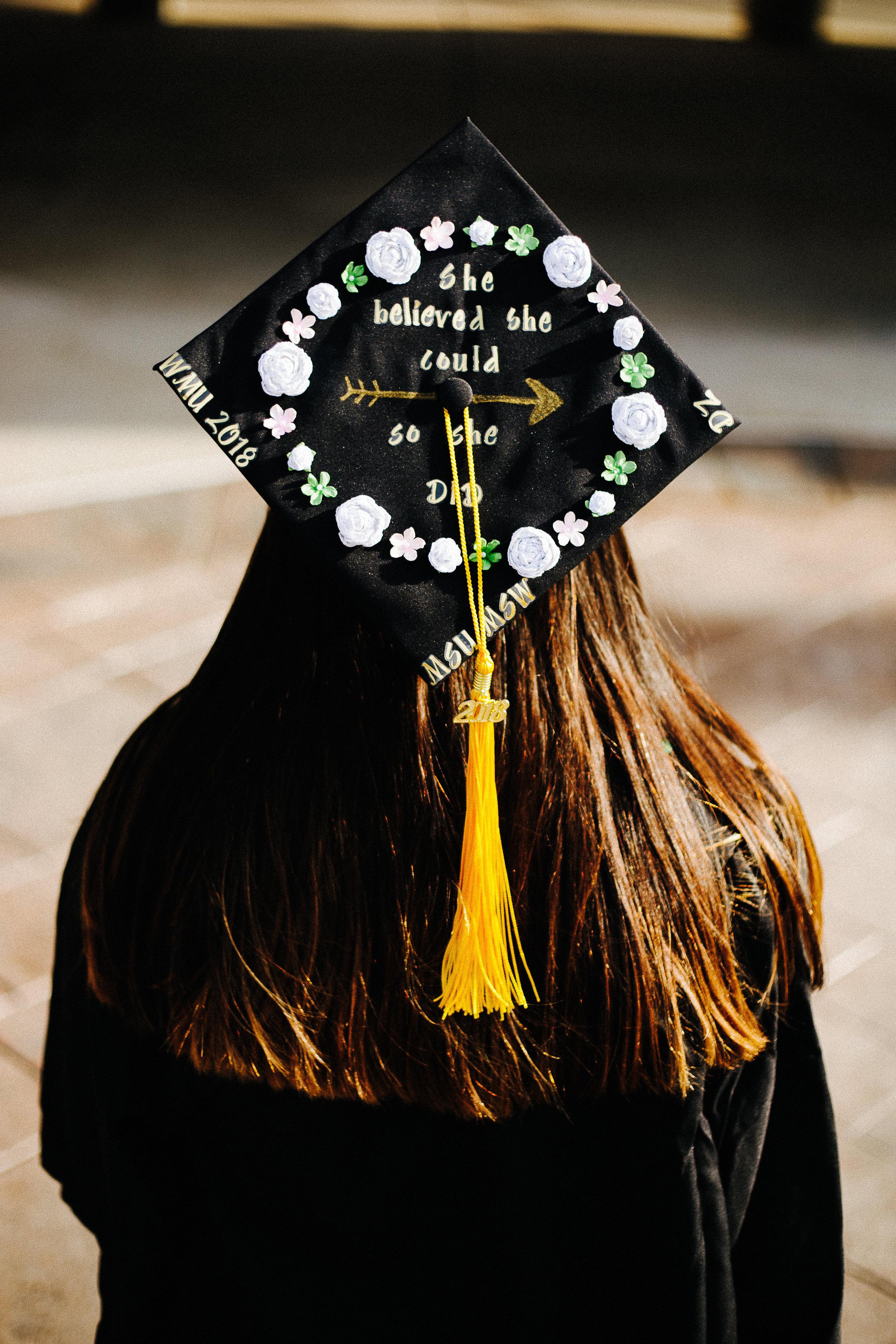 Western Michigan University Graduation Cap Decor