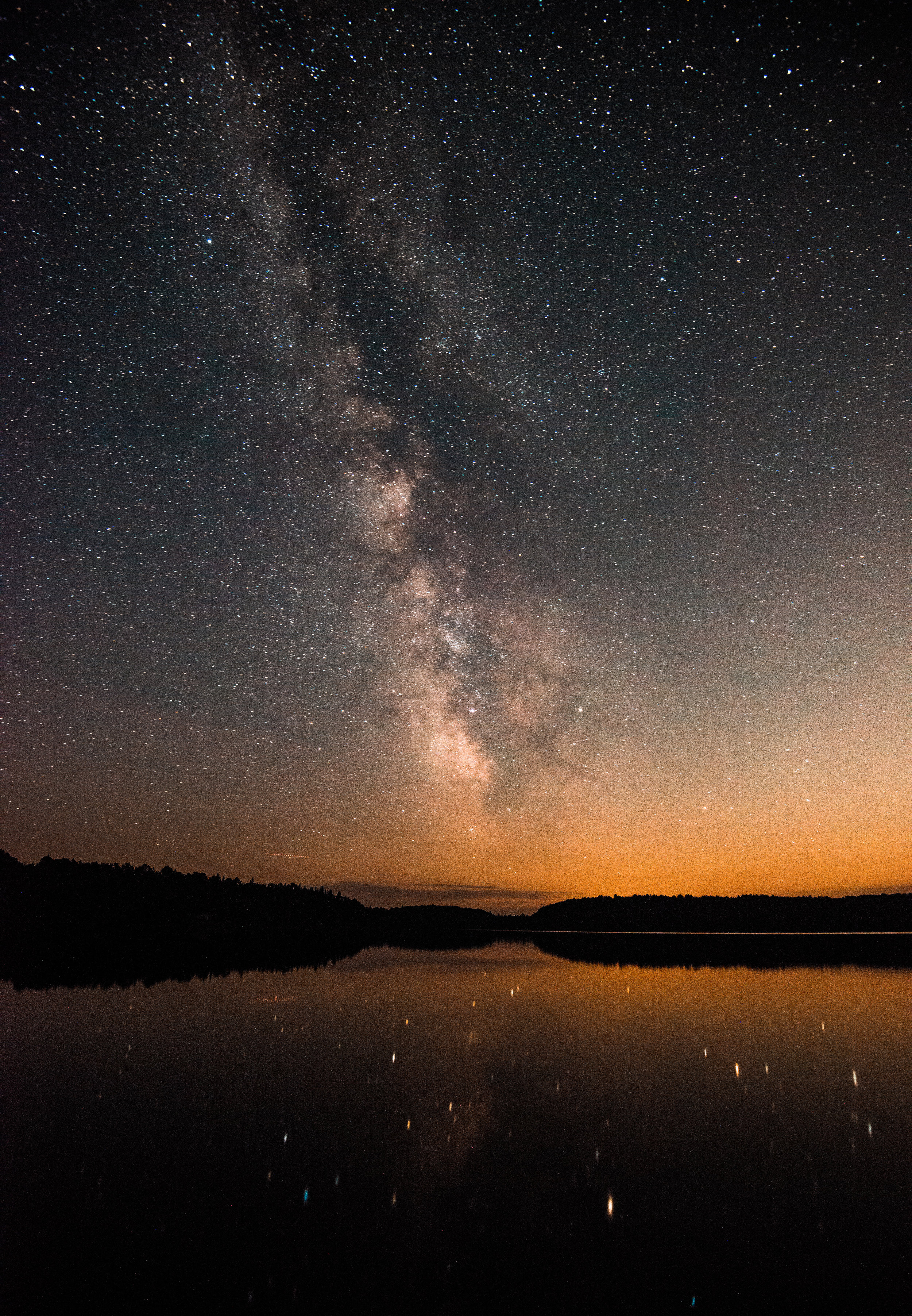 "Milky Way - Cauliflower Lake - Algonquin Provincial Park   Featured at Table Rock in Niagara Falls, Ontario for ""Ontario's Protected Places"" gallery hosted by Ontario Travel"