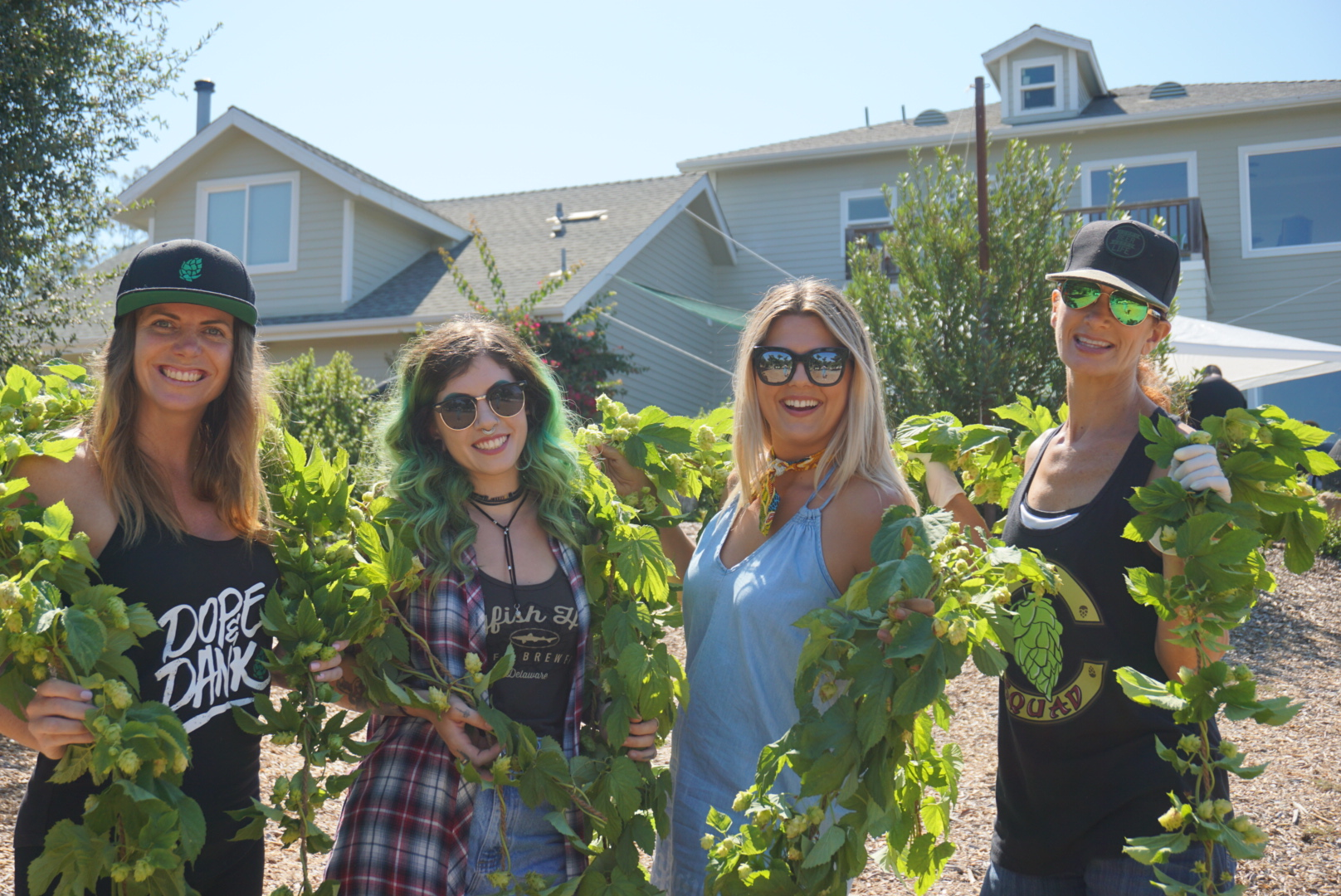 Some amazing beer babes! Starting from right to left, Victoria (@tapswithtor), Megan (@isbeeracarb), Myself (@coco_sandiego) and our amazing organizer, Kristine (@womensbeercollective).