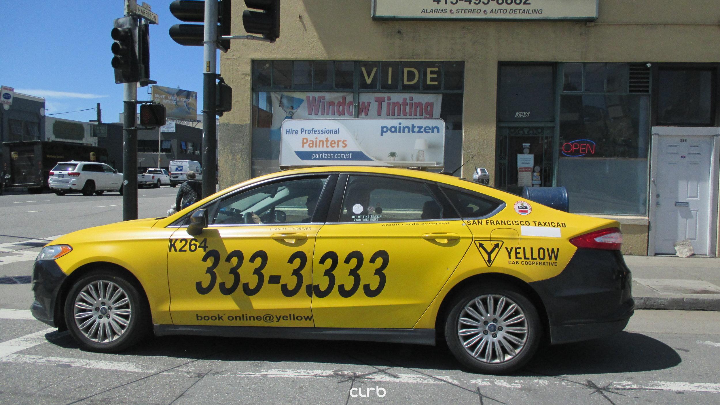 Taxi Top Advertising in San Francisco, California