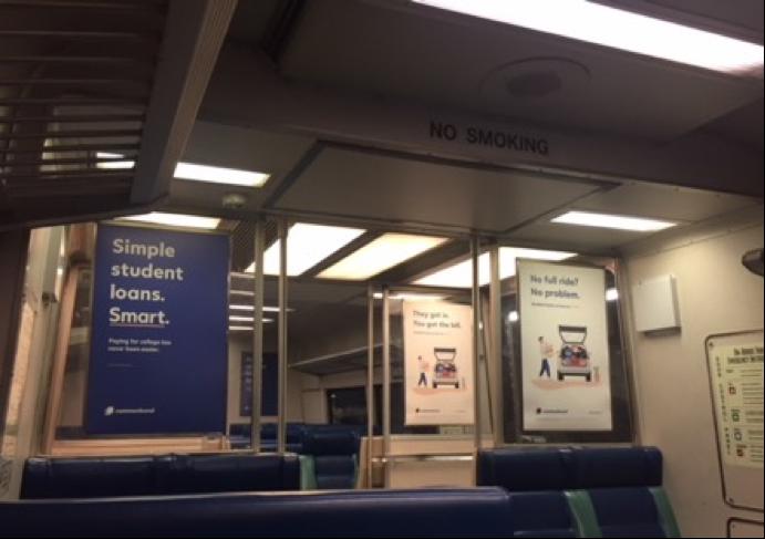 Subway and train advertising in Cincinnati