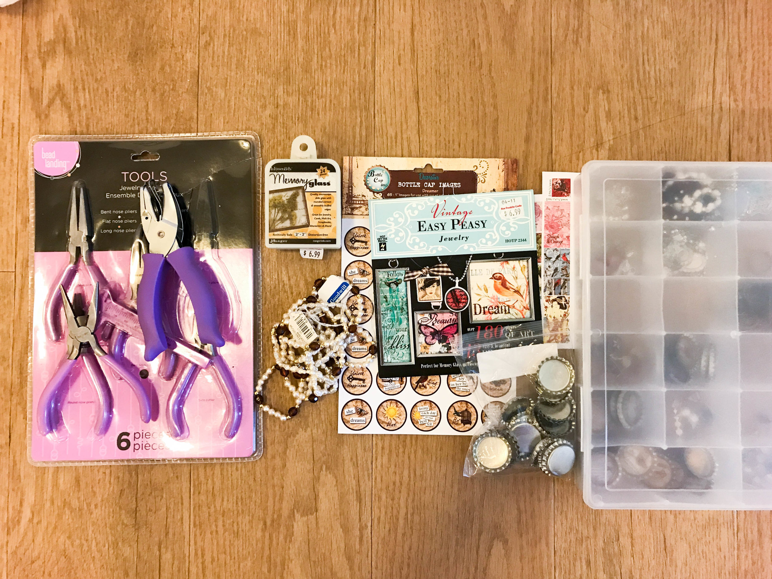 Jewelery making: A few of these items were new but I was able to sell the lot for $25.