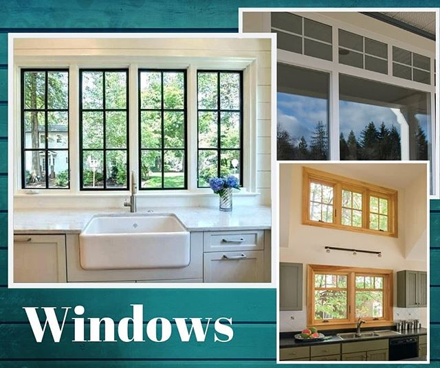 With the cold coming we are all thinking of how to keep it out of the house! Replacing old windows can not only help with energy costs but they can make a new statement in your home!  #customhome #windows #renovation