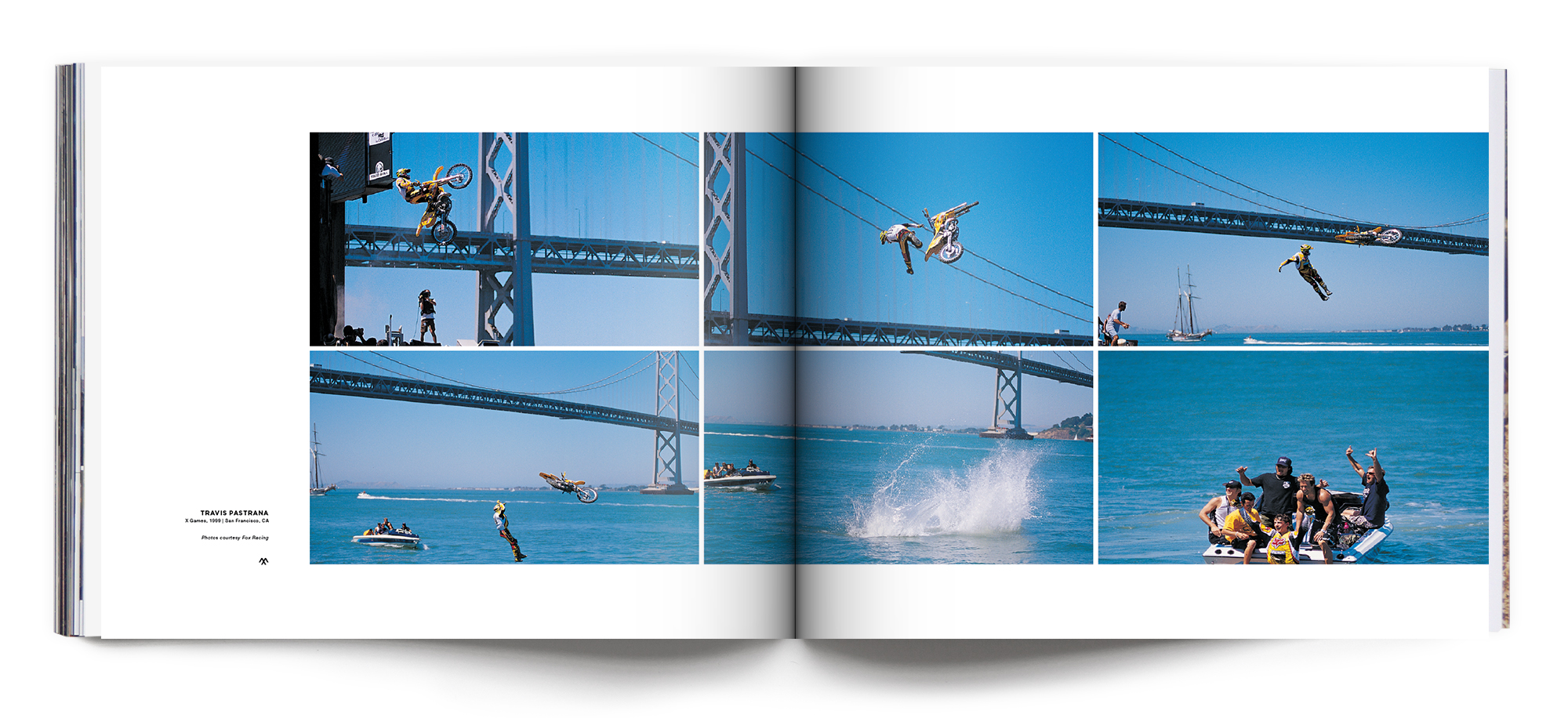 Travis Pastrana's jump into the bay, X Games 2000 | Photo spread featured in META Volume 004