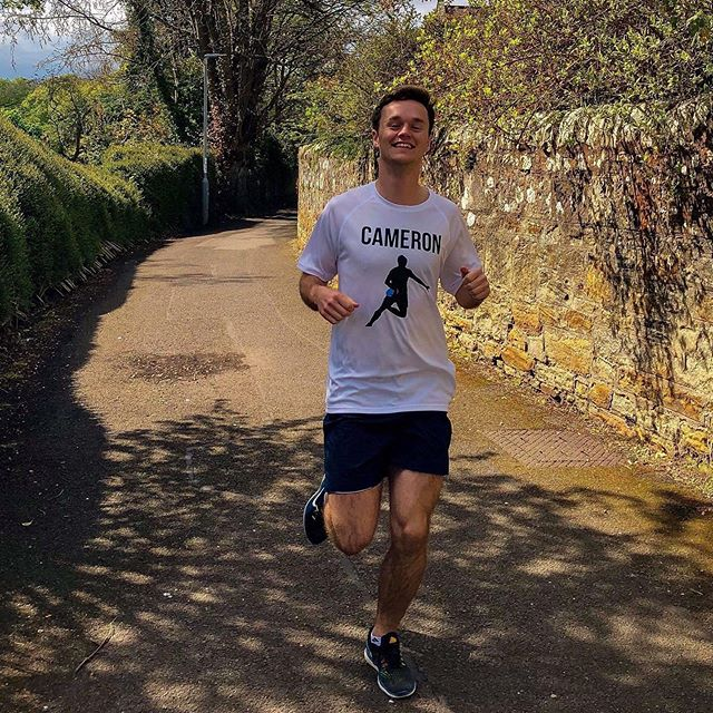On Sunday @cameronlynde is running the Edinburgh marathon in support of the foundation. . . Help him over the finish line with donations using the link in our bio. . . #noexcuses #cavsfamily #concussionawareness #concussion #marathon