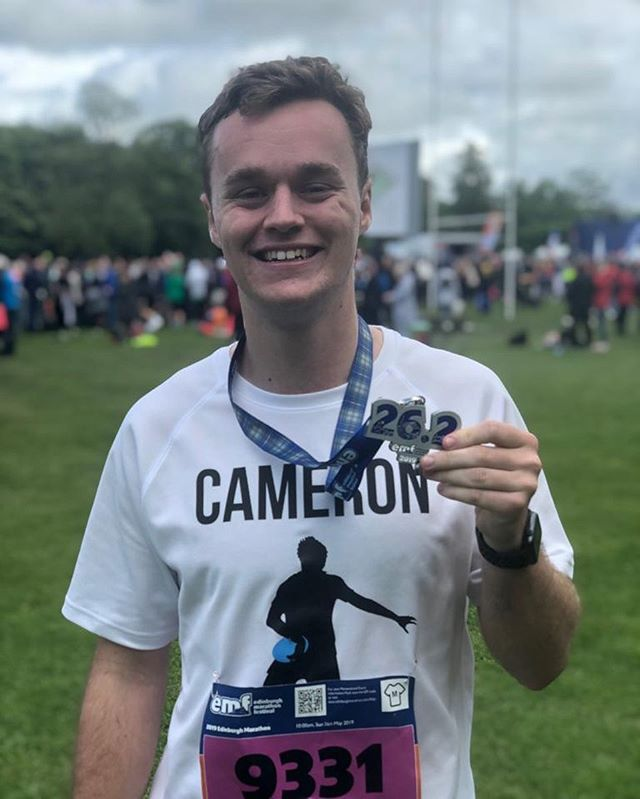 Congratulations to @cameronlynde on completing the Edinburgh marathon today! . . He completed the 26 miles in 4hrs and 17 minutes, great effort! . . You can still donate using the link in our bio. . . #noexcuses #marathon #concussionawareness #edinburghmarathonfestival #fundraising @edinburghmarathonfestival