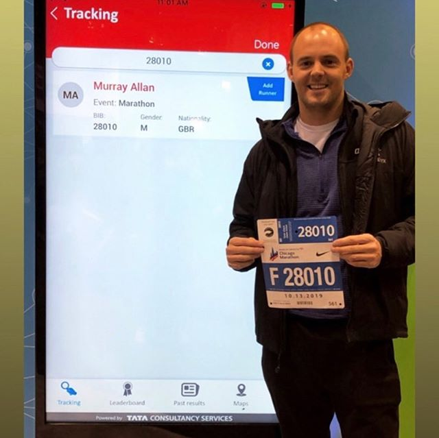 Today's the day @murraykallan runs the Chicago marathon. He is raising money for @steven_sims_cavaliers And the fine chaps over at @myname5doddie  Good luck buddy!!!!! If you can, please donate!! (Link in bio)  https://uk.virginmoneygiving.com/fundraiser-display/showROFundraiserPage?userUrl=MurrayAllan2&pageUrl=1