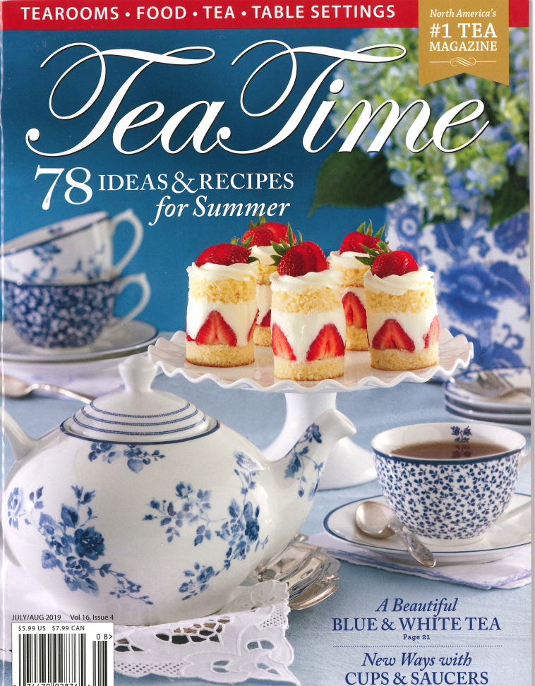 As Seen in Teatime Magazine July/August 2019