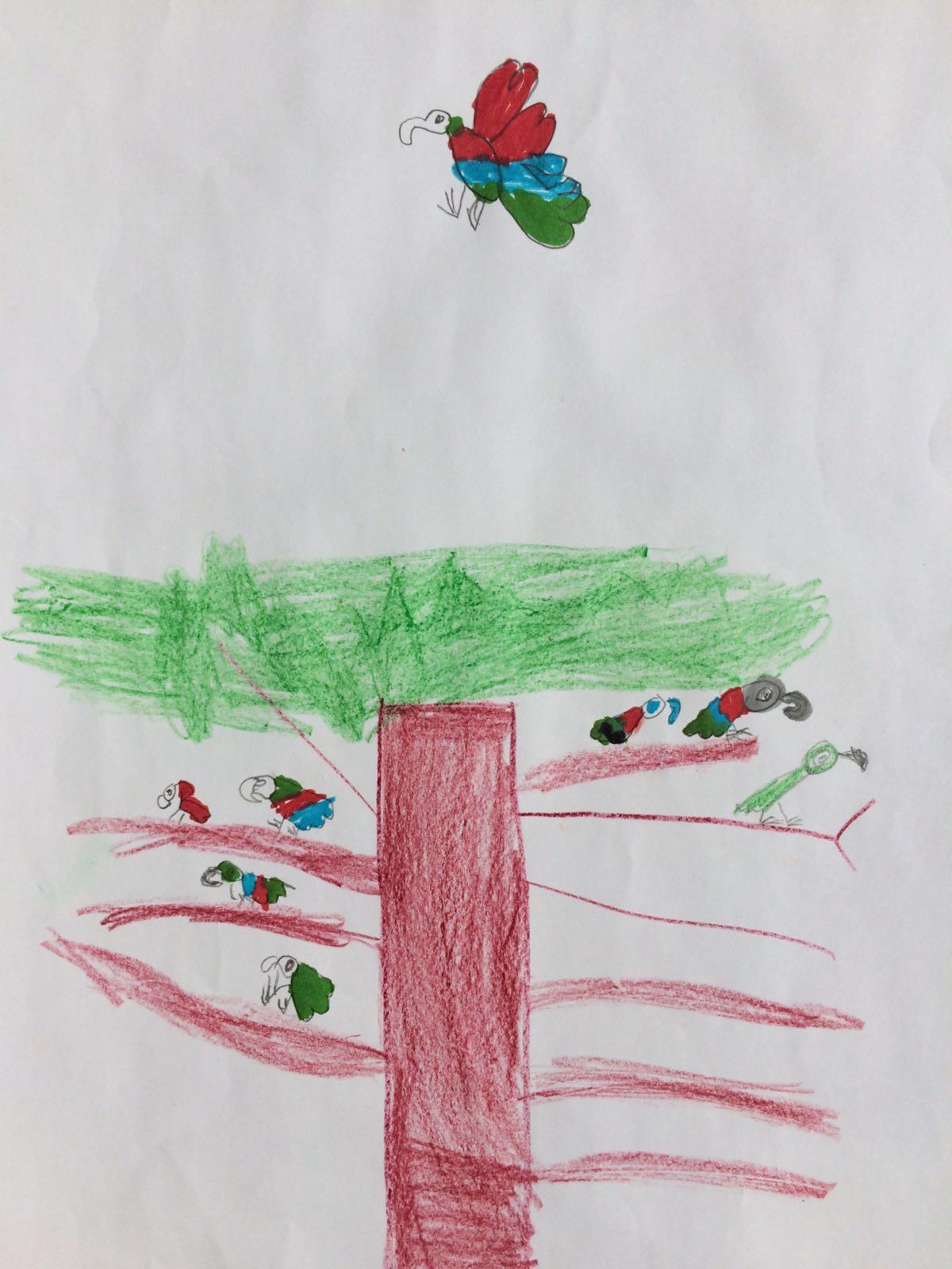 Birds in the tree, by Daniel