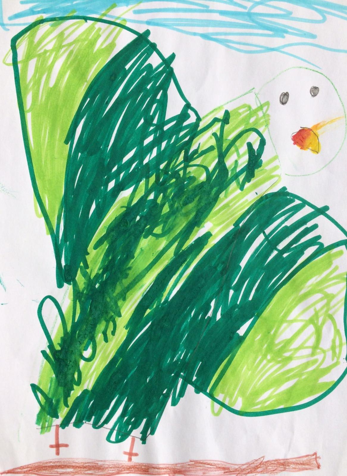 A Green Parrot, by Oscar