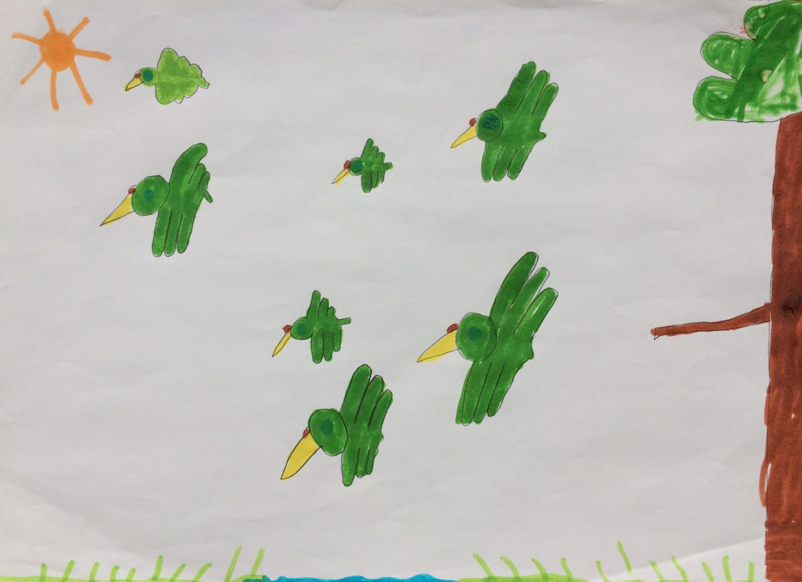 Birds flying, by Jerry