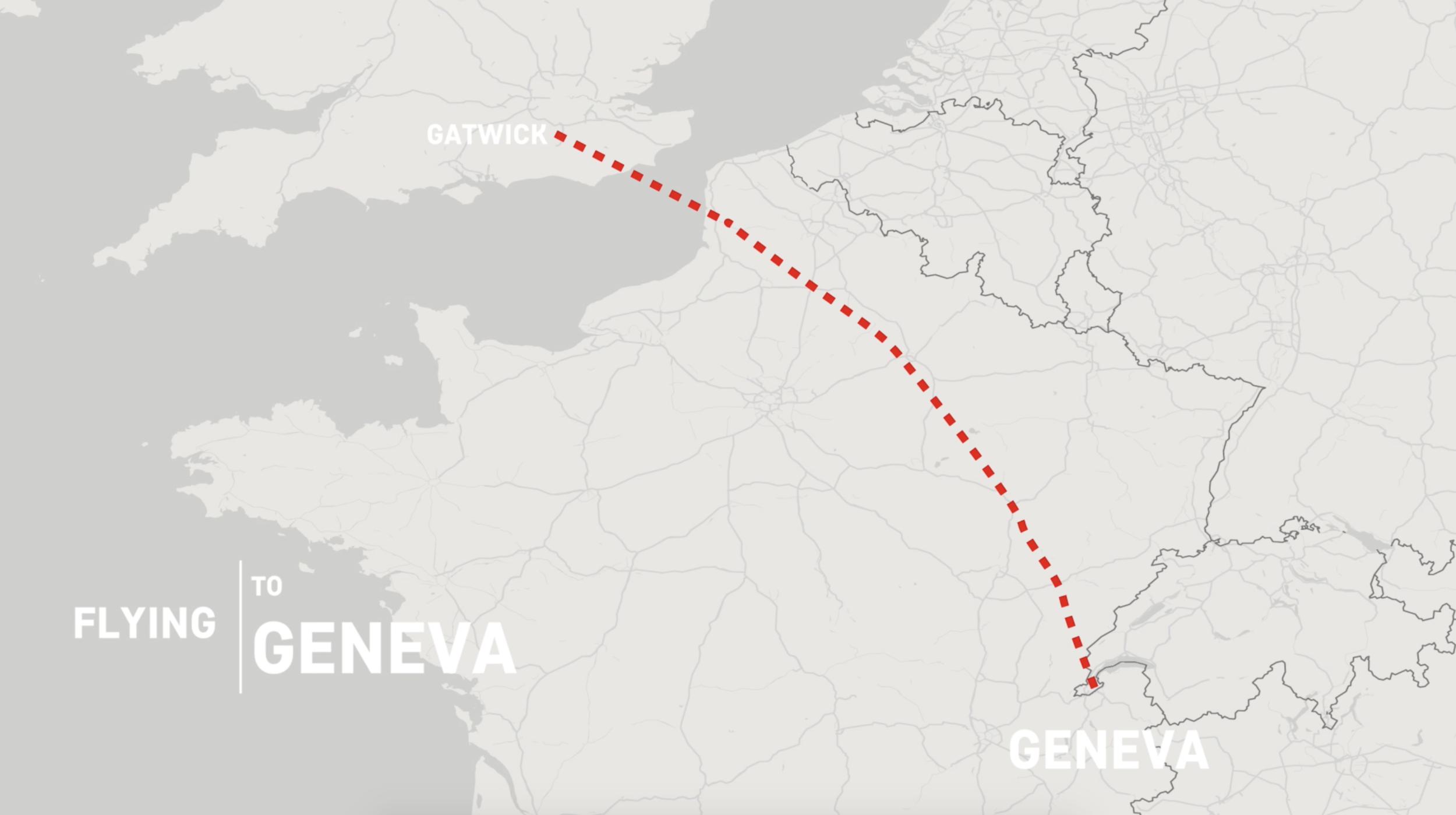 Flying to Geneva