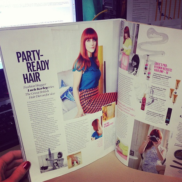 My December copy of @ELLEUK has landed on my desk. It's funny seeing my face peering back at me! (Pg 324-325) Argh!   Photos // Oly Barnsley for ELLE UK    Styling // Madeleine Bowden for ELLE UK