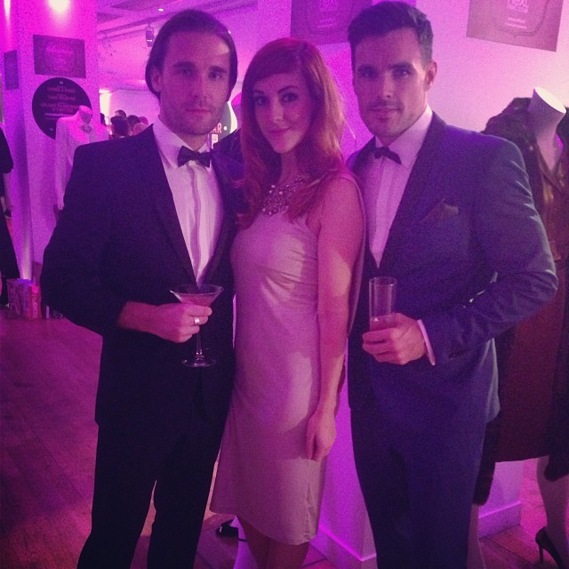Lovely evening at the #cosmoblogawards meeting @nextofficial's male models @glennball7 @anthonytrahearn.
