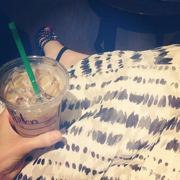 Breakfast iced latte for John. Who's #John? Hahahahahaha @jmgcreative #goonjohn