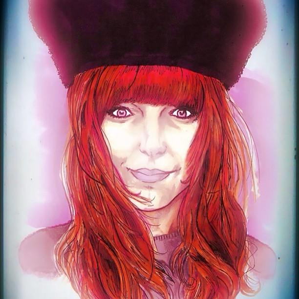 Had my portrait done by the lovely @ArtBySkings.    www.artbyskings.com    Like him on FB here: facebook.com/artbyskings   Thank you Matt.