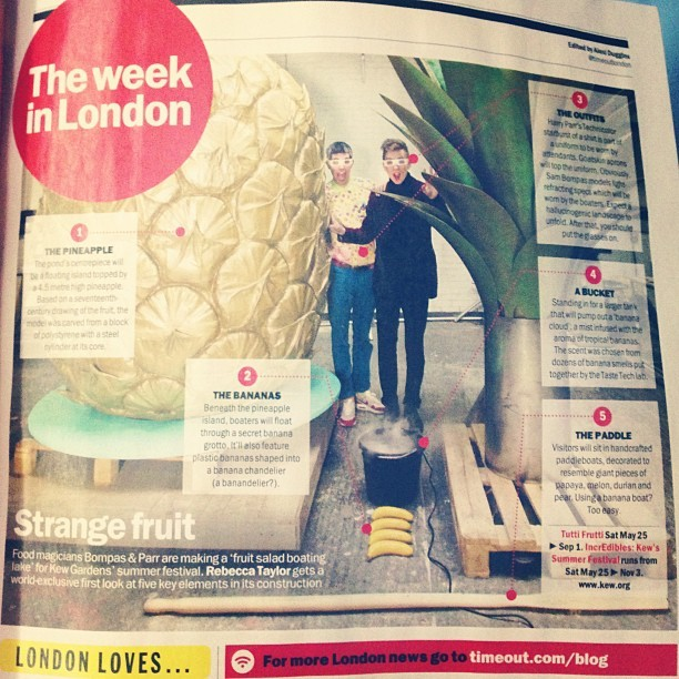 Looking forward to seeing the GIANT PINEAPPLE at work today @kewgardens. It's not everyday you can tweet that! @timeoutlondon
