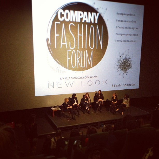 At @companymagazine #fashionforum listening to @companyedvic @angelascanlon @fashionfoisgras @newlookfashion. Hello fellow #fbloggers and fashion folk! Thank you @gem_fatale xx
