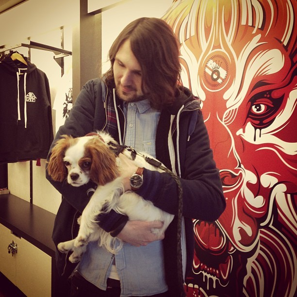 Such a cutey! Paying @anyforty and his gorgeous pooch Monni a visit @boxpark.