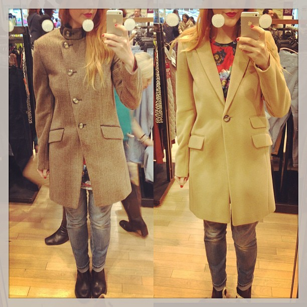 Do we like these coats??? I'm venturing into the @nextofficial sale. @sophieolearysmith @katestansfield x