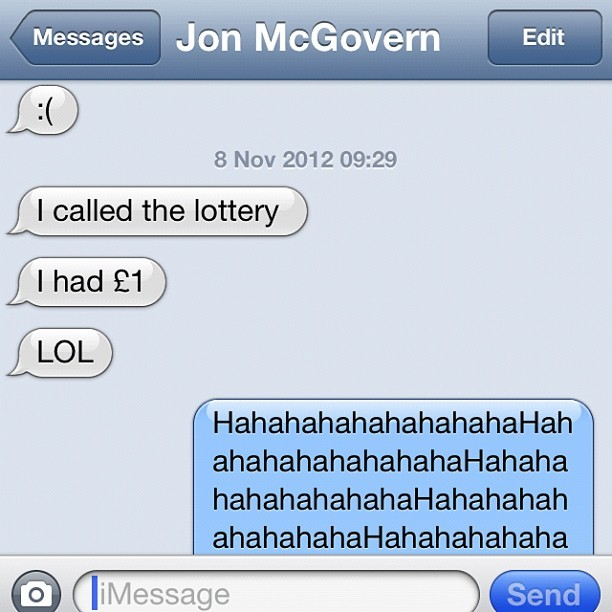 Funniest thing ever! @jmgcreative gets an email from @TNLUK lottery asking him to give them a call or the money in his inactive  account would go to charity… I hooted with laughter when I found out how much it was!! #wishfulthinking #funny #lottery #win