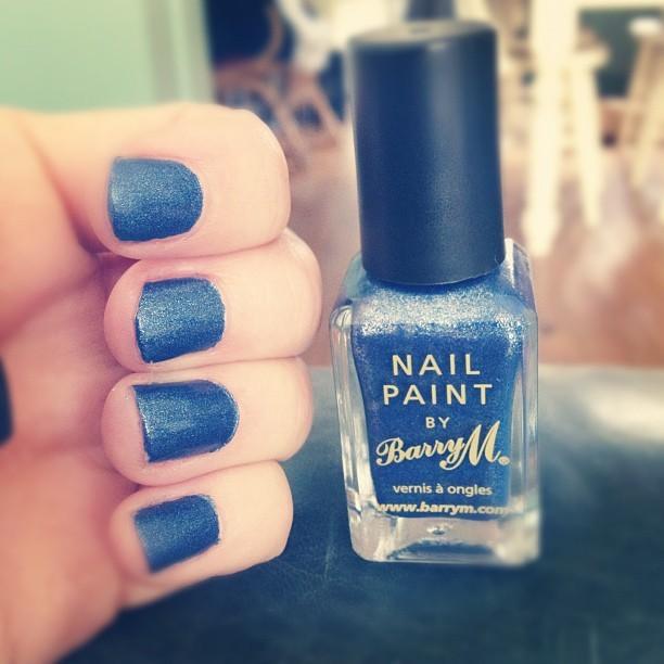 Nice! Love it! My new @barrymcosmetics nail polish in Denim #325 shade, a birthday gift from @katestansfield birthday.