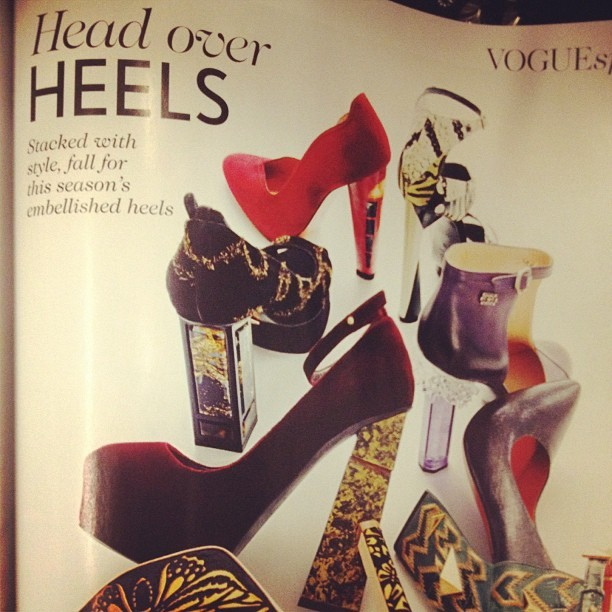 Oh YES YES YES @BritishVogue! I love these #joannestoker embellished beauties! @ybdfashion do you have them?! X #fashion #want #need #newshoes  (Taken with  Instagram )