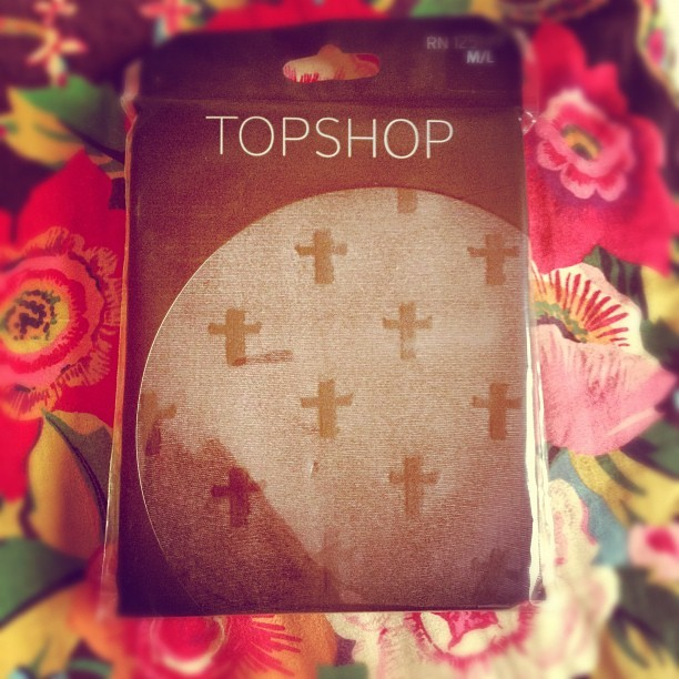 Also got these wicked @topshop #cross tights off  @letstryhard - woo hoo! My #AW12 goth look is complete ! #Fashion #style #blogger #whattowear #inspiration #photo #girl #tights #print #fblogger #clothes #ootd #wiwt #instapic #outfit #whatiwore #igdaily  (Taken with  Instagram )