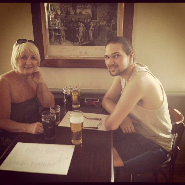 . @jmgcreative & his mum, Davina. (Taken with  Instagram )
