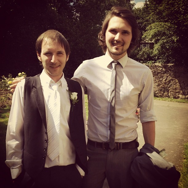 Big Brother. Little Brother. @jmgcreative #wedding #family #photo  (Taken with  Instagram )