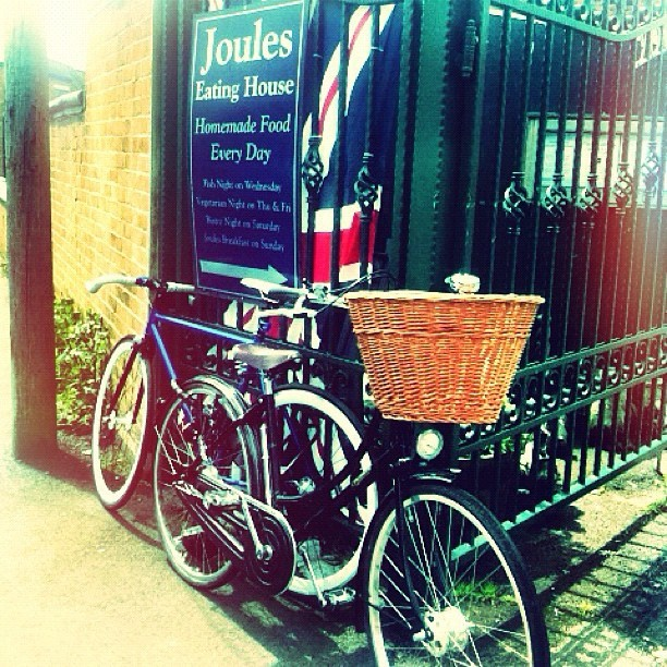 Our lovely bicycles outside @JoulesYard  (Taken with  Instagram )