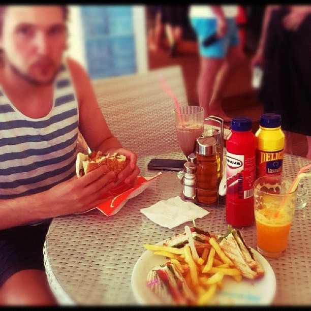 Last lunch on Koukounaries beach with @jmgcreative :-( (Taken with  Instagram )