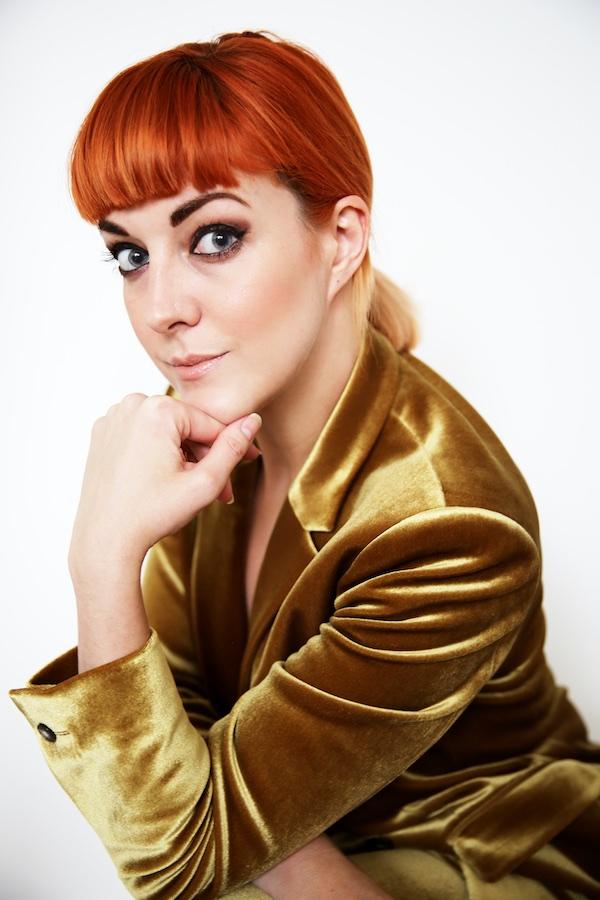 Lucie Loves Topshop Gold Velvet Suit 4