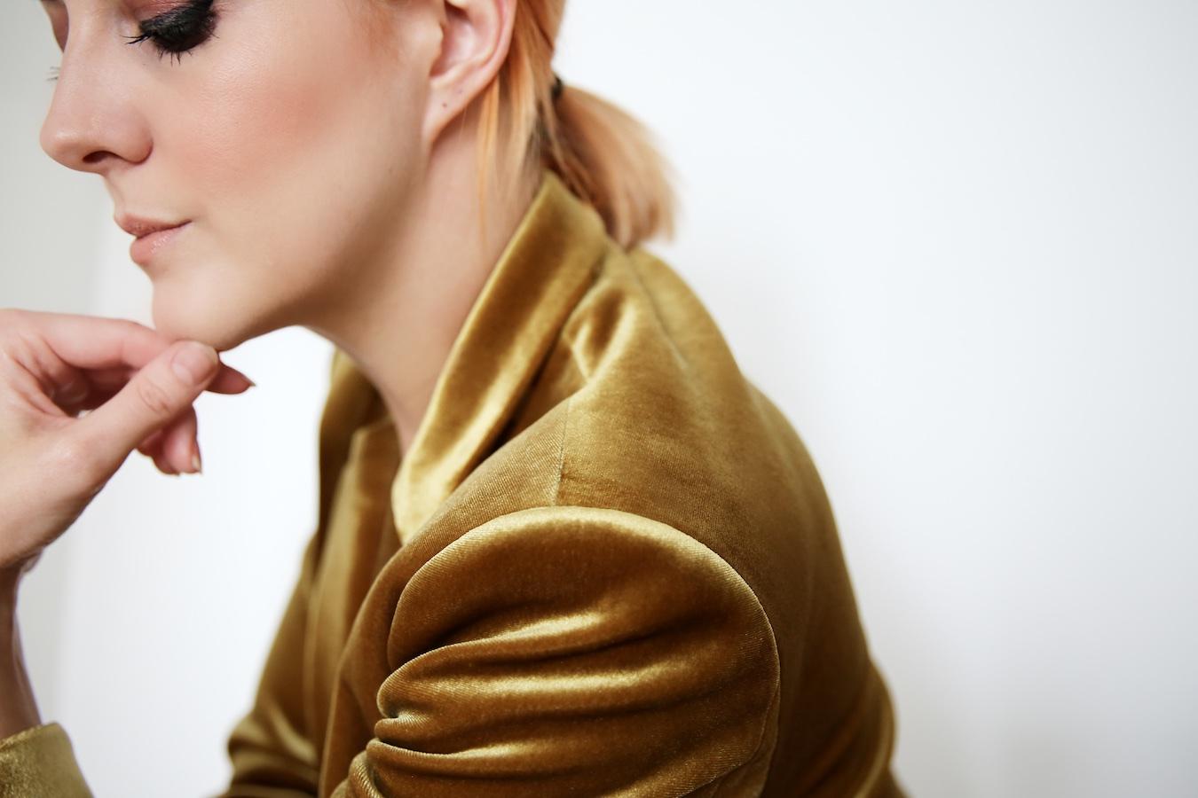 Lucie Loves Fashion Topshop Gold Velvet Suit