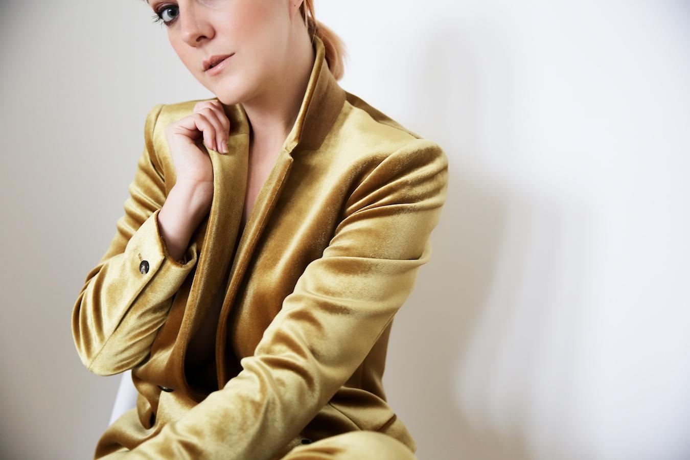 Lucie Loves Topshop Gold Velvet Suit