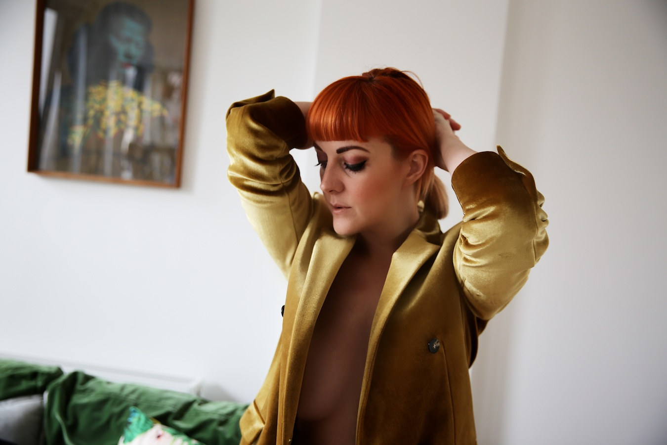 Lucie Loves Fashion Topshop Gold Suit