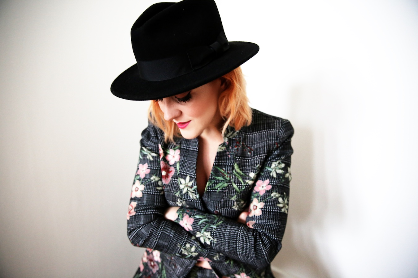 Lucie Loves Fashion Floral Tweed Suit