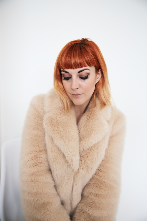 Lucie Loves Fashion Pink Faux Fur coat
