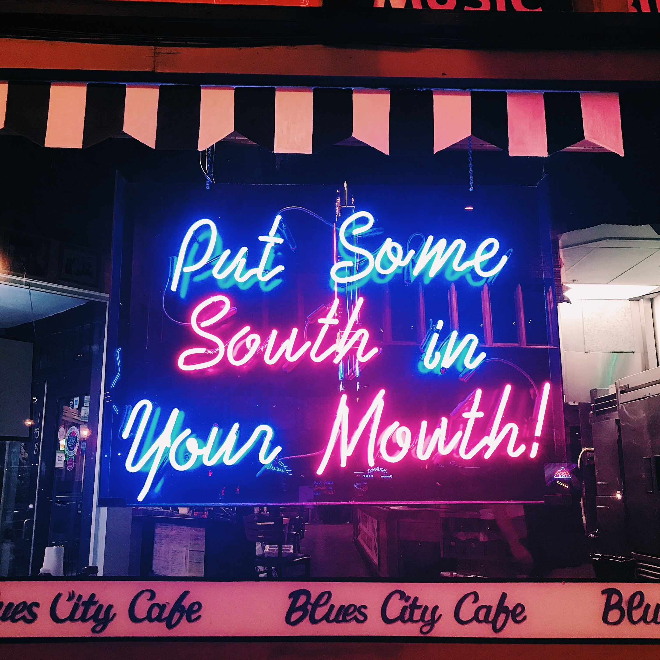 Put Some South In Your Mouth neon sign, Memphis