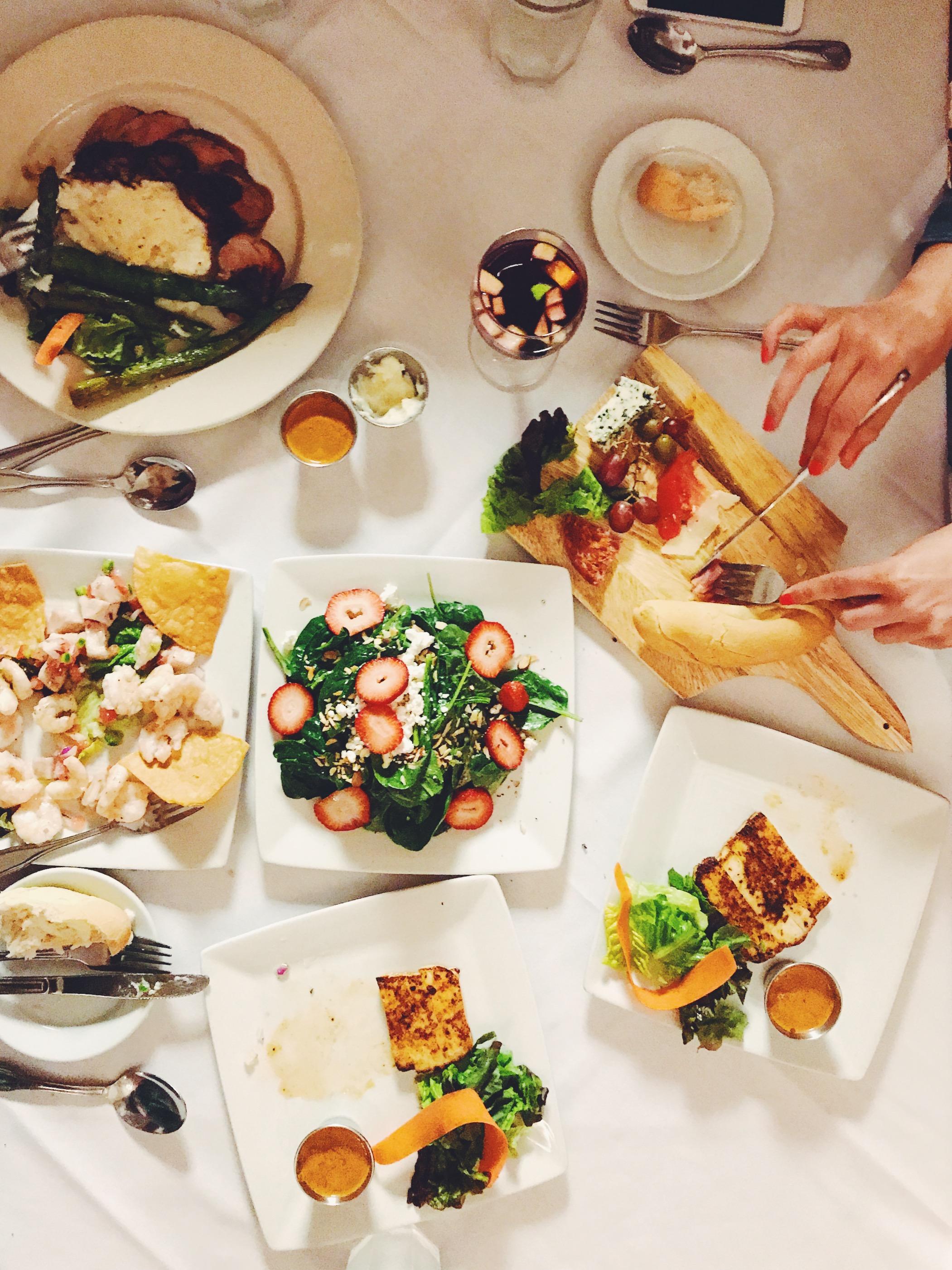 Dinner at Lola's restaurant after New Orleans Jazz Festival