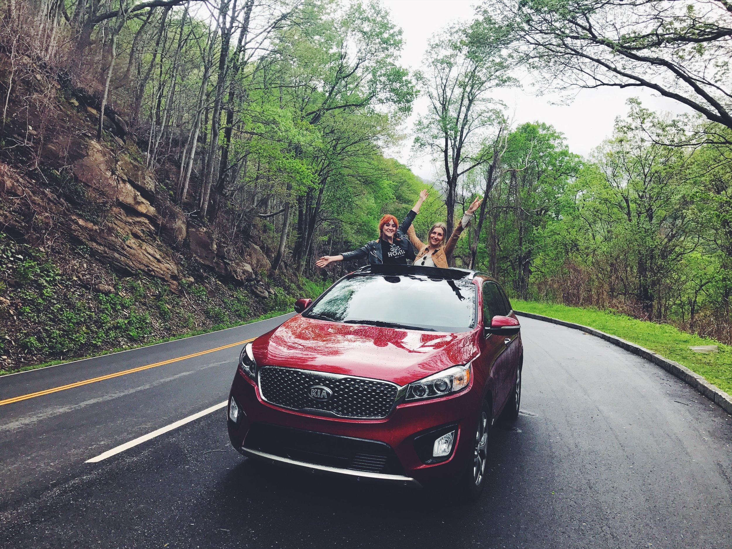 Lucie Loves Kia Sorento US road trip